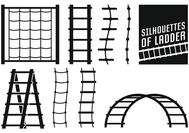 Ladder Silhouettes - Free vector #414209