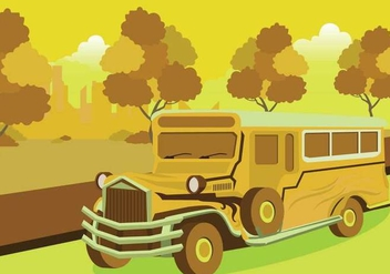 Free Jeepney Illustration - бесплатный vector #414279