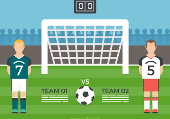 Free Football Match Vector Illustration - бесплатный vector #414299