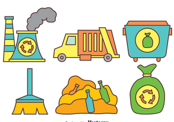 Hand Drawn Garbage Element Vector - Free vector #414369