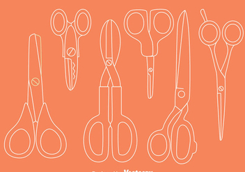 Scissors Line Vector Set - Kostenloses vector #414379