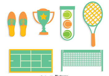 Tennis Element Collection Vector - бесплатный vector #414419