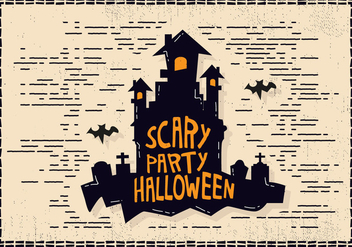 Halloween Castle Illustration - vector gratuit #414459