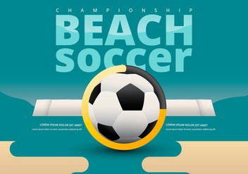 Beach Soccer Championship Team Versus Template - Kostenloses vector #414479