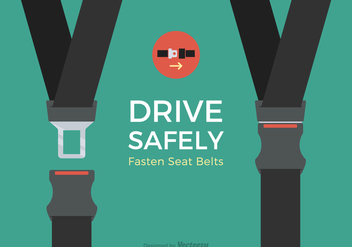 Free Seat Belt Vector Design - бесплатный vector #414729