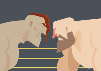Two Wrestler Ready to Fight Vector - vector gratuit #414739