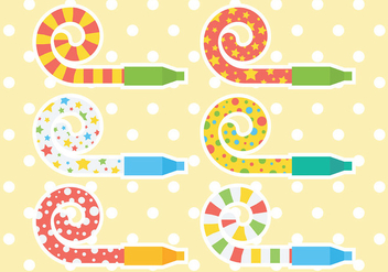 Free Party Blower Icons Vector - vector gratuit #414769