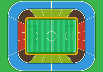 Football Ground Stadium Top View - Kostenloses vector #414899