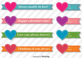Valentine Days Vector Ribbons - Kostenloses vector #414919