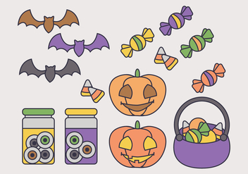 Halloween Vector Elements - Free vector #414969