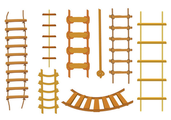 Free Rope Ladder Vector - Free vector #415009