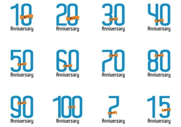 Anniversary Vector Number - Free vector #415049