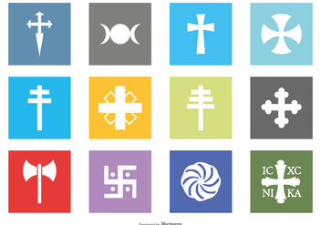 Religion Symbol Icon Collection - бесплатный vector #415139