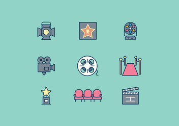 Free Hollywood Icon - бесплатный vector #415169