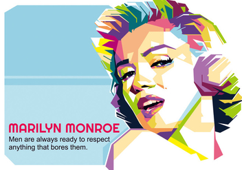 Marilyn Monroe - Hollywood Life - WPAP - бесплатный vector #415199