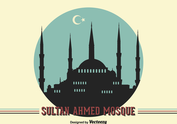 Free Vector Sultan Ahmed Mosque Background - бесплатный vector #415219