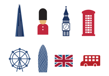 Free London Landmarks and Icons - Kostenloses vector #415329