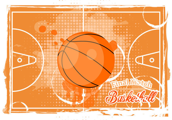 Basketball Texture Background - vector gratuit #415339
