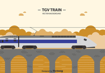 Free Tgv Train Background - vector #415369 gratis