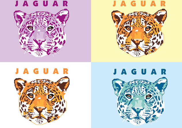 Jaguar - Animal Life - Popart Portrait - Free vector #415409