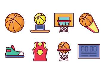 Free Basketball Icon Set - vector gratuit #415439
