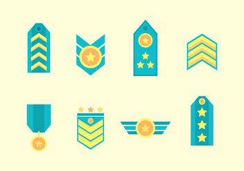Free Military Badge Vector - бесплатный vector #415469