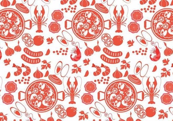 Paella Pattern Vector - бесплатный vector #415519