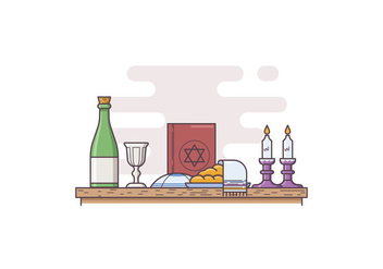 Free Shabbat Illustration - бесплатный vector #415549