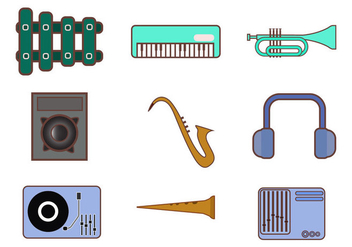 Free Music Instrument Icon Vector - vector #415589 gratis
