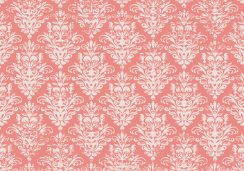 Pink Grunge Damask Background - vector #415609 gratis