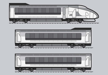 TGV Train Vector - Free vector #415749
