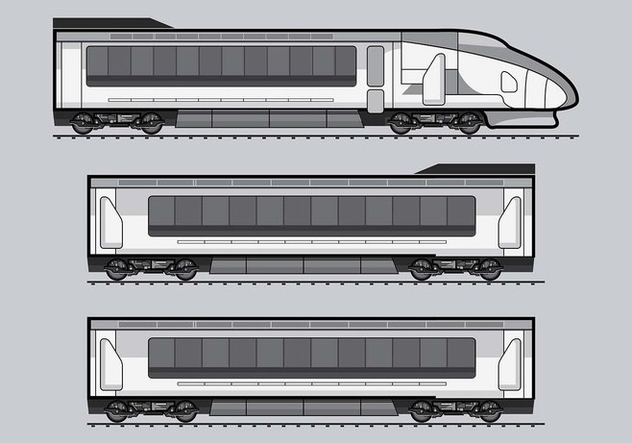 TGV Train Vector - бесплатный vector #415749