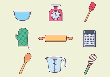 Free Baking Tools Vector - бесплатный vector #415759