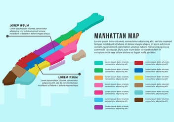 Free Manhattan Map Infographic - Kostenloses vector #415849