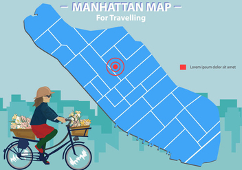 Manhattan Map For Traveller - vector #415889 gratis
