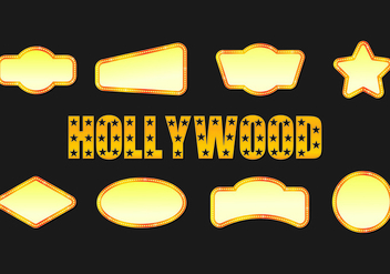 Icon Of Hollywood Lights - Kostenloses vector #415929