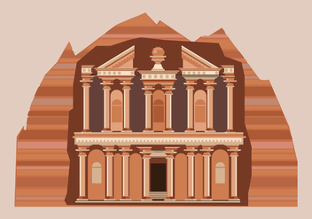 Petra Vector Illustration - vector gratuit #415939