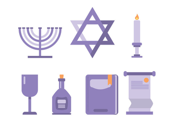 Shabbat Ceremonial Icon - бесплатный vector #415949
