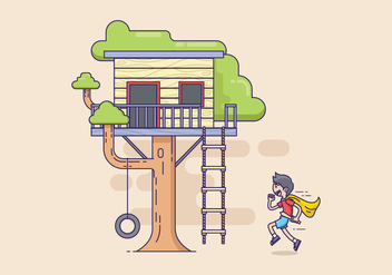 Free Treehouse Illustration - Kostenloses vector #415959