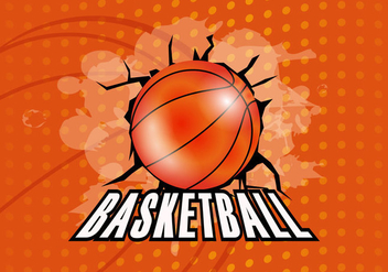 Basketball Texture Background - vector gratuit #416029