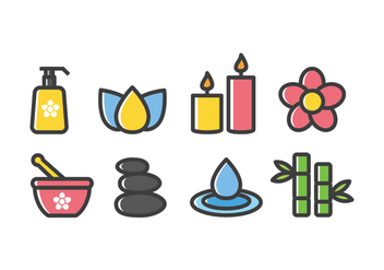 Free Spa and Beauty Icons - vector #416059 gratis