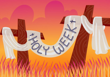 Free Holy Week Vector Illustration - бесплатный vector #416099