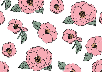 Beautiful Camellias Pattern - Free vector #416129
