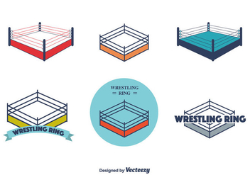 Wrestling Ring Vector - vector #416189 gratis