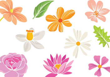 Free Simple Flowers Vectors - Free vector #416289