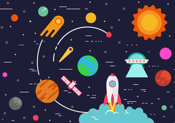 Free Starship Illustration - Free vector #416309