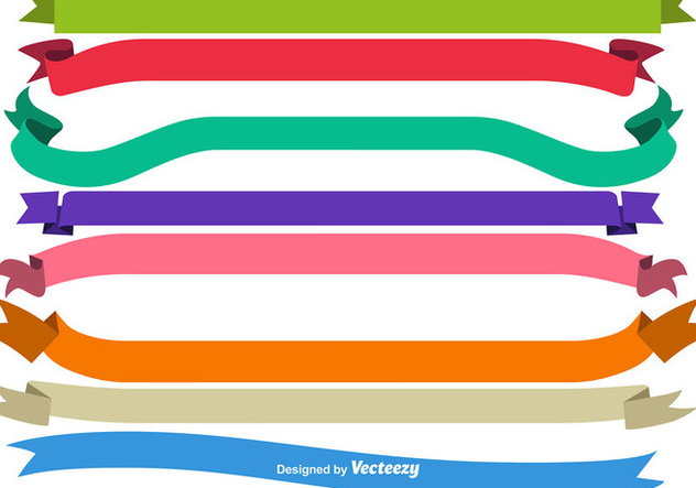 Vector Blank Colorful Ribbons - Free vector #416329
