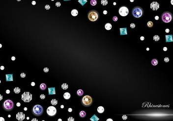 Rhinestone Background - vector gratuit #416399