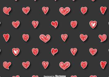 Vector Seamless Pattern - Doodle Hearts - Kostenloses vector #416419