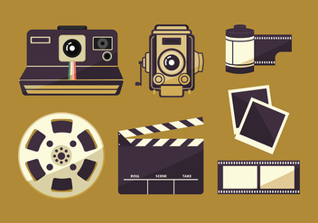 Film Canister and Photography Set Free Vector - Kostenloses vector #416499